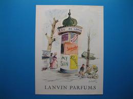 (1949) LANVIN PARFUMS - 6 Parfums Présentés Sur La Colonne Morris (document N° 9/16) - Advertising