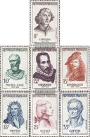 France 1167-1173 (complete Issue) With Hinge 1957 Famous Personalities - Ongebruikt