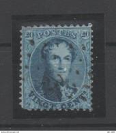 21/8   (vert12) Belgique Belgie 15a Oblitere - 1863-1864 Medallions (13/16)