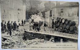 CPA  SOMMIÈRES (30) - Inondations De 1907 - Avenue De La Gare Transformée En Torrent  - BE - Autres Communes