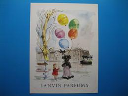 (1949) LANVIN PARFUMS - 5 Parfums Présentés Par La Marchande De Ballons (document N° 10/16) - Advertising