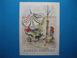 (1948) LANVIN PARFUMS - 5 Parfums Présentés Par La Fleuriste (document N° 11/16) - Advertising