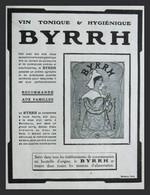 Pub Papier 1909 BOISSON BYRRH Vin Tonique Quinquina 3 Violet Freres Thuir 66 Dos Parfum LT Piver Pompeia - Advertising