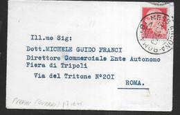IMPERIALE CENT. 20 - PERFIN - (GIUSEPPE GUERRI) - ANNULLO MESS. ANCONA ROMA * 31.12 38* SU BUSTINA PER ROMA - Marcophilia