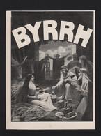 Pub Papier 1909 Boisson BYRRH Vin Tonique Et Hygiènique Au Quiquina Violet Freres THUIR 66 La Creche Jesus - Advertising