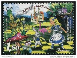 Bosnia & Herzegovina (2015) - Set -  / Tales - Legends - Children - Mushrooms - Literacy - Alice In Wonderland - Verhalen, Fabels En Legenden