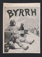 Pub Papier 1909 Boisson BYRRH Vin Tonique Et Hygiènique Au Quiquina Violet Freres THUIR 66 Dessin Eugène Beringuier - Advertising