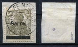 Saargebiet Michel-Nr. 1I Vollstempel Auf Briefstück - Geprüft - Used Stamps