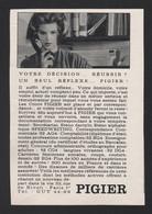 Pub Papier  1964 Ecole PIGIER Comptabilite Comptable Cours Secretariat Femme Secrétaire - Advertising
