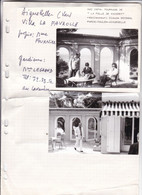 Photo Originale Série De 21 Photos Tournage Film La Folle De Maigret Jean Richard Aiguebelle Villa La Favrolle - Fotos