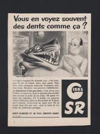 Pub Papier  1953 Dentifrice Gibbs Humour Dentiste  Cabinet Dents Tigre - Advertising