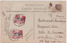 TONKIN / INDOCHINE - 1921 - CACHET De CHAPA (RARE)  Sur CARTE (TRIBUNAL INDIGENE !) => ST ANTOINE PRES NICE - Briefe U. Dokumente
