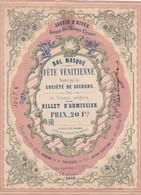 Affichette(17 X 12,5 Cms) Bal Masqué 1848 !! - Advertising