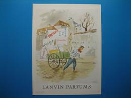 (1950) LANVIN PARFUMS - 6 Parfums Présentés Par Le Livreur Et Sa Charrette (document N° 13/16) - Advertising
