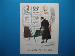 (1953) LANVIN PARFUMS - 6 Parfums Présentés Par La Boutique D'affiches (document N° 14/16) - Advertising