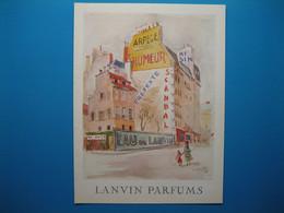 (1953) LANVIN PARFUMS - L'immeuble Aux Six Parfums (document N° 15/16) - Advertising
