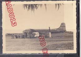 DC 4 Immatriculé F-BELE Air Atlas Afrique Années 50 Aérodrome Maroc Excellent état - Aviation