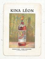 Publicité , Carte De Visite , Chromo , Grande Distillerie Du KINA LEON ,87 ,LIMOGES ,Haute Vienne - Advertising