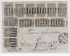 Deutsches Reich Brief Mit Massenfrankatur Von Kiel Nach Berlin Portorichtig - Covers & Documents