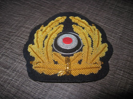 Insigne Casquette  Brodé Cannetille Or - 1939-45