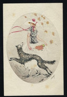 ILLUSTRATEUR  KABY * FEMME CHIEN FLEURS ART NOUVEAU * 1929 * EDIT E K & Cie  PARIS SERIE 1979 * 2 SCANS - Donne