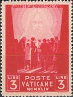 4448 Mi.Nr. 114 Vatikan (1945) Crowd Of People Facing The Redeemer Ungebraucht - Unused Stamps