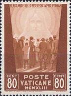 4452 Mi.Nr. 97 Vatikan (1944) Crowd Of People Facing The Redeemer Ungebraucht - Unused Stamps