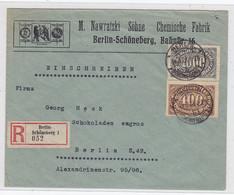 Deutsches Reich R-Ortsbrief Mit MIF Der Fa.M.Nawratzki Und Söhne Chem.Fabrik Berlin Portorichtig AKs - Covers & Documents