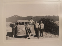 Vintage Photo With Volkswagen Minibus EBull - Otros