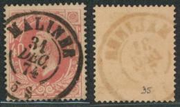 """émission 1869 - N°34 Obl Double Cercle """"Malines"""". Superbe !  / Collection Spécialisée - 1869-1883 Leopold II"""