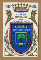 CHATEAU-CHINON (58) : ECUSSON BLASON ADHESIF  (CPM) Double Face - Chateau Chinon
