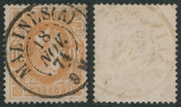 """émission 1869 - N°33 Obl Double Cercle """"Malines (A)""""  / Collection Spécialisée. Léger Pli Coin Supérieur Droit - 1869-1883 Leopoldo II"""