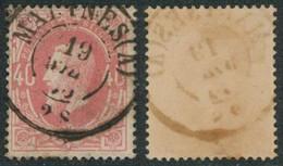 "émission 1869 - N°34 Obl Double Cercle ""Malines (A)"". Superbe !  / Collection Spécialisée - 1869-1883 Leopold II"