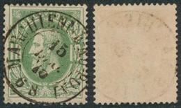 """émission 1869 - N°30 Obl Double Cercle """"Marchienne-au-pont"""". Beau Centrage / Collection Spécialisée - 1869-1883 Leopold II"""