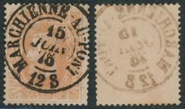 """émission 1869 - N°33 Obl Double Cercle """"Marchienne-au-pont"""" / Collection Spécialisée - 1869-1883 Leopold II"""