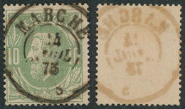 "émission 1869 - N°30 Obl Double Cercle ""Marche"" - 1869-1883 Leopold II"