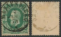 "émission 1869 - N°30 Obl Double Cercle ""Mariembourg"" Luxe !  / Collection Spécialisée - 1869-1883 Leopold II"
