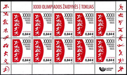 LITHUANIA 2021-11 Summer Olympic Games Tokyo-2020. MINI-SHEET, MNH - Summer 2020: Tokyo