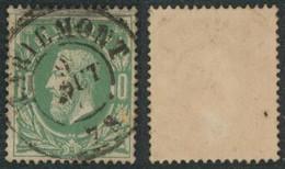"""émission 1869 - N°30 Obl Double Cercle """"Mariemont""""  / Collection Spécialisée - 1869-1883 Leopold II"""