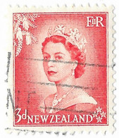 New Zealand, Queen Elizabeth II, Three Pence, - Used Stamps