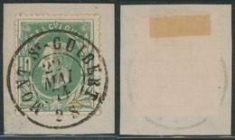 """émission 1869 - N°30 Sur Fragment Obl Double Cercle """"Mont-St-Guibert"""". Luxe ! / Collection Spécialisée - 1869-1883 Leopold II"""