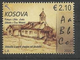 KOS 2020-510 FIRST ALBANIEN SCOOL, KOSOVO, 1v, MNH - Kosovo