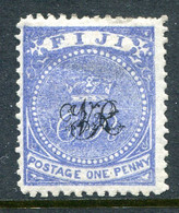 Fiji 1876-77 VR - Surcharges - Laid Paper - 1d Blue HM (SG 31) - Fiji (...-1970)