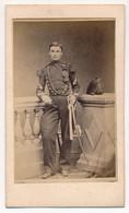 Photographie Ancienne XIXe CDV Portrait D'un Militaire Régiment à Identifier Circa 1860 - Old (before 1900)