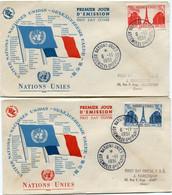 FRANCE ENVELOPPE 1er JOUR DES N°911/12 ASSEMBLEE DE L'ONU A PARIS AVEC OBL NATIONS UNIES 6-11-1951 ...........Gale PARIS - 1950-1959