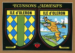 ILE D'OLERON  (17) : ECUSSON BLASON ADHESIF  (CPM) - Ile D'Oléron