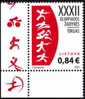 LITHUANIA 2021-11 Summer Olympic Games Tokyo-2020. CORNER, MNH - Summer 2020: Tokyo