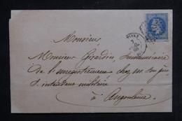 FRANCE - Lettre De Poitiers Pour Angoulême En 1868, Affranchissement Napoléon 20c, GC 2915 - L 103442 - 1849-1876: Période Classique