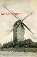 PHOTO ALLEMANDE - LE MOULIN A VENT ENTRE LES ECLUSES ET QUESNOY SUR DEULE PRES DE LILLE NORD - GUERRE 1914 1918 - 1914-18
