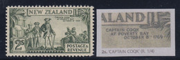 """New Zealand, SG 589da, MLH """"Captain Coqk"""" Variety, Perf 12.5 - Unused Stamps"""